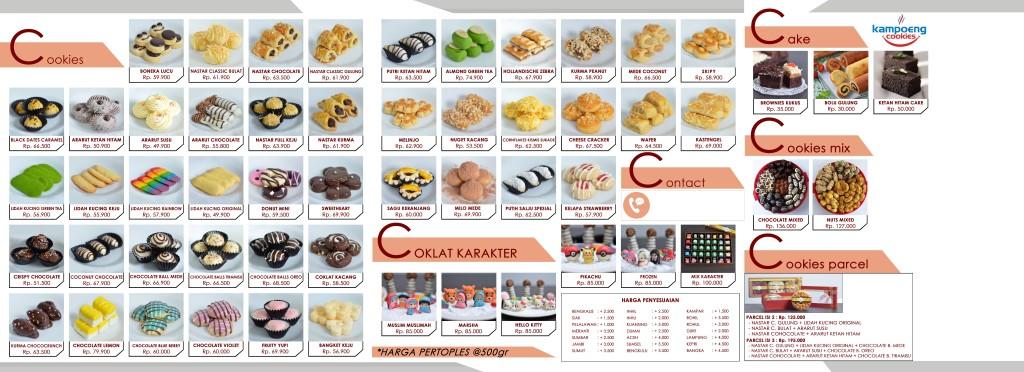 Brosur Kampoeng Cookies Pekanbaru Riau 2017 Belakang