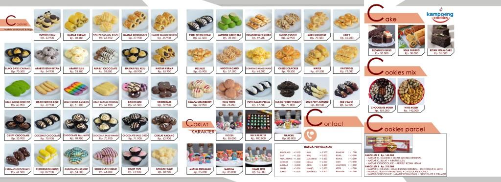 Brosur Katalog Kue Kering Kampoeng Cookies Pekanbaru Riau 2018 Belakang