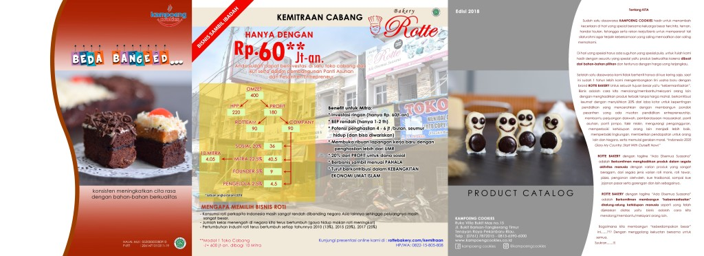 Brosur Katalog Kue Kering Kampoeng Cookies Pekanbaru Riau 2018 Depan